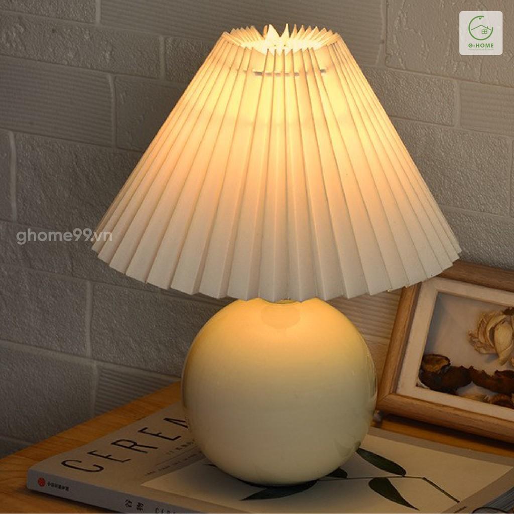 Đèn ngủ để bàn đèn trang trí hình Cây Nấm sứ tráng men bóng DENB21 CAYNAM
