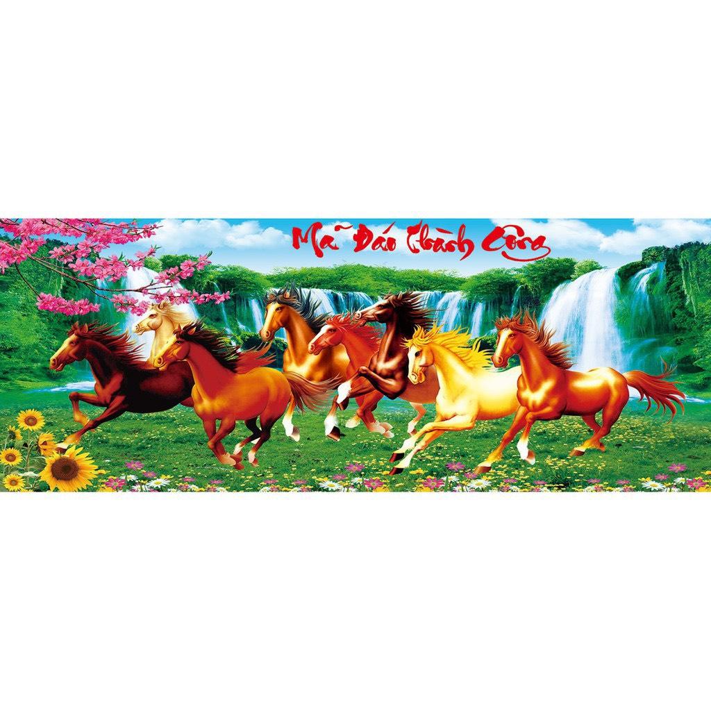 Tranh đính đá Mã Đáo Thành Công ( chưa đính) - AL88592 - 120x53cm