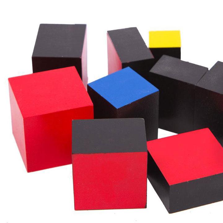 Hộp tam thức Trinomial Cube giáo cụ Montessori