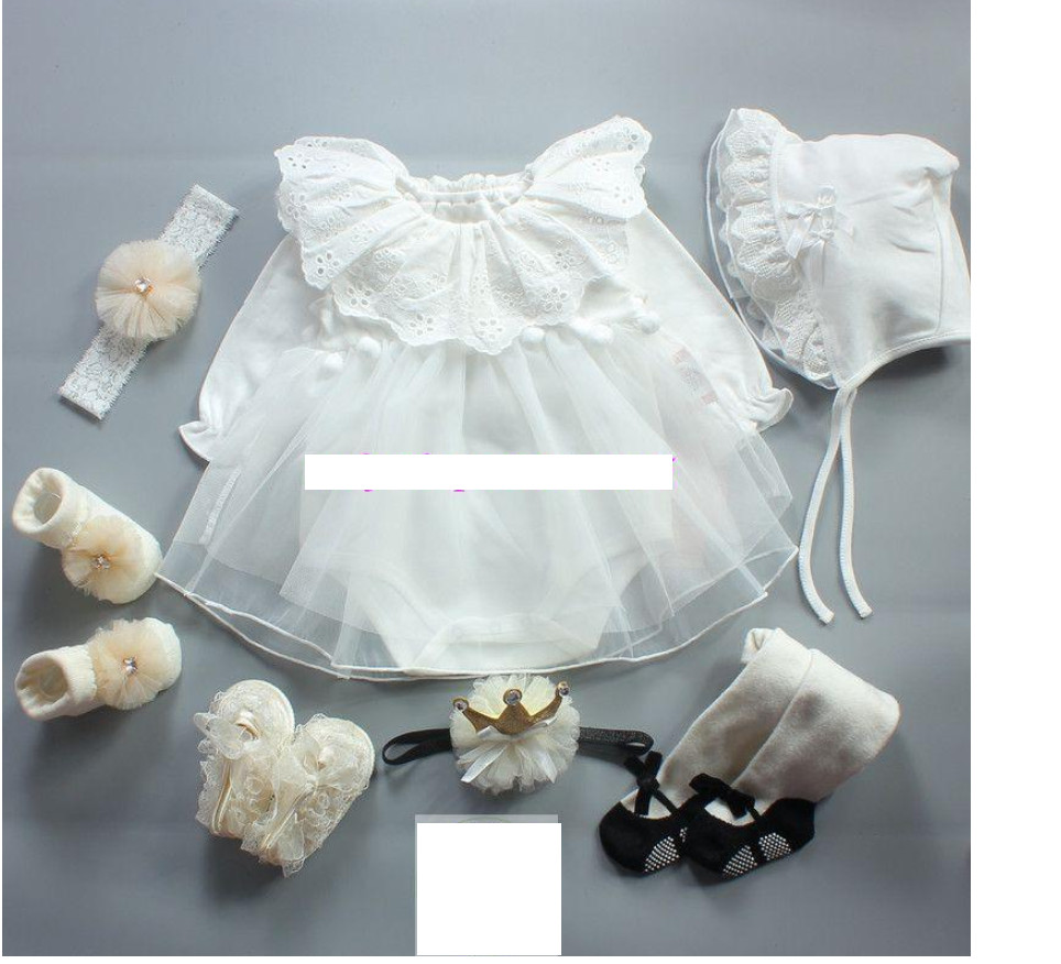 (Tặng mũ bèo) Váy Body Công Chúa Thiên Thần Cao Cấp - Sơ Sinh bé gái diện đầy tháng thôi nôi đi chơi diện Tết