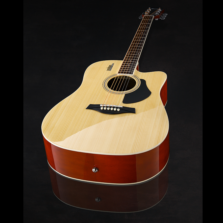 Đàn Guitar Acoustic Rosen G12 Màu Gỗ Dáng D (Size 41) G12NA - Phân phối Chính Hãng - Kèm móng gảy DreamMaker