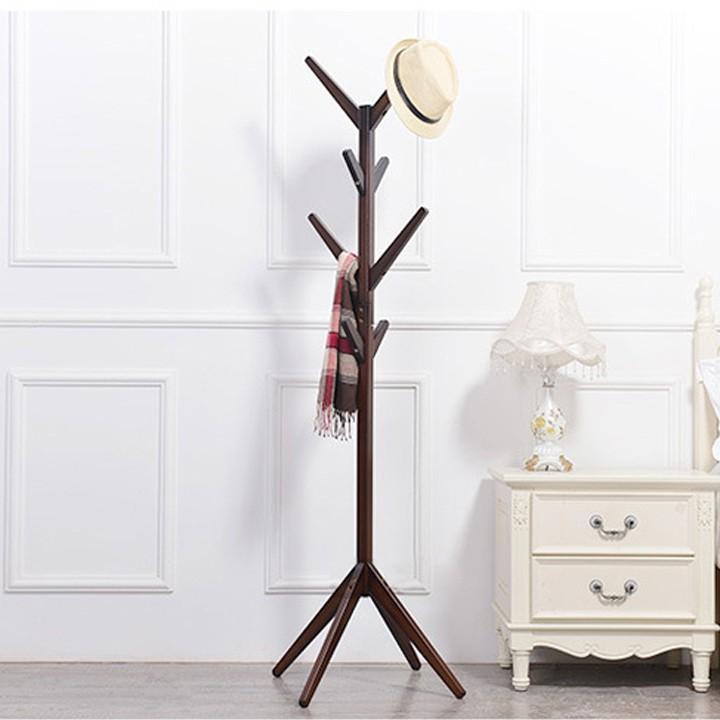 Cây treo quần áo bằng gỗ CT04 màu nâu cafe