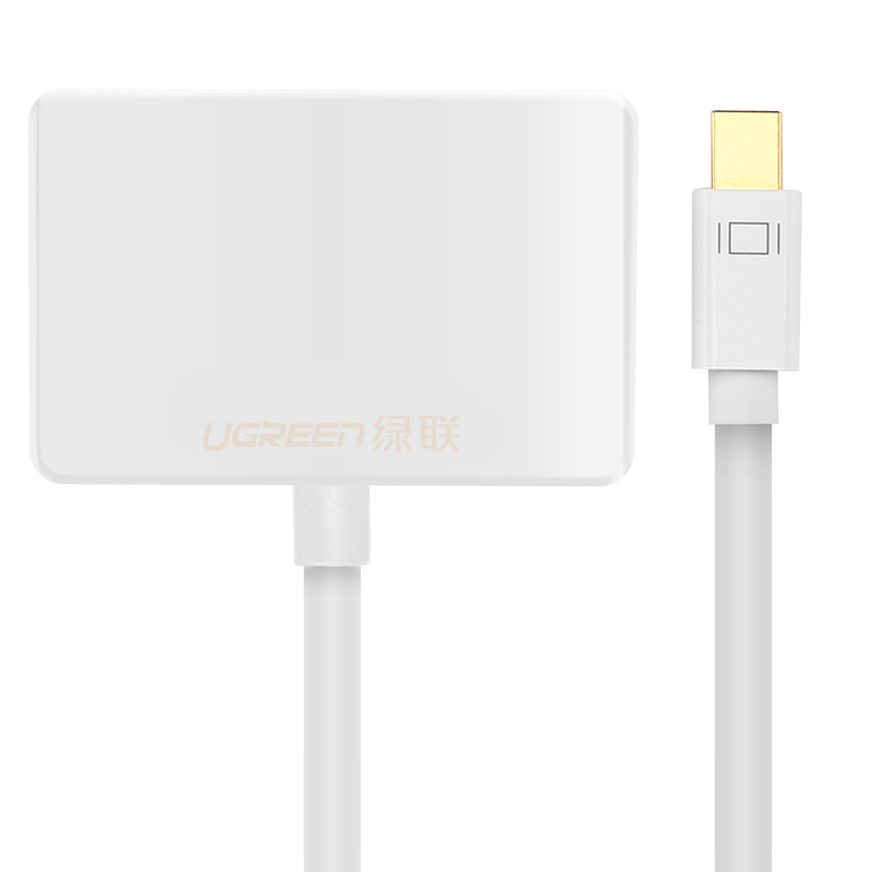 Cáp chuyển miniDP sang HDMI và VGA dài 15CM UGREEN MD108 10427 - Hàng chính hãng