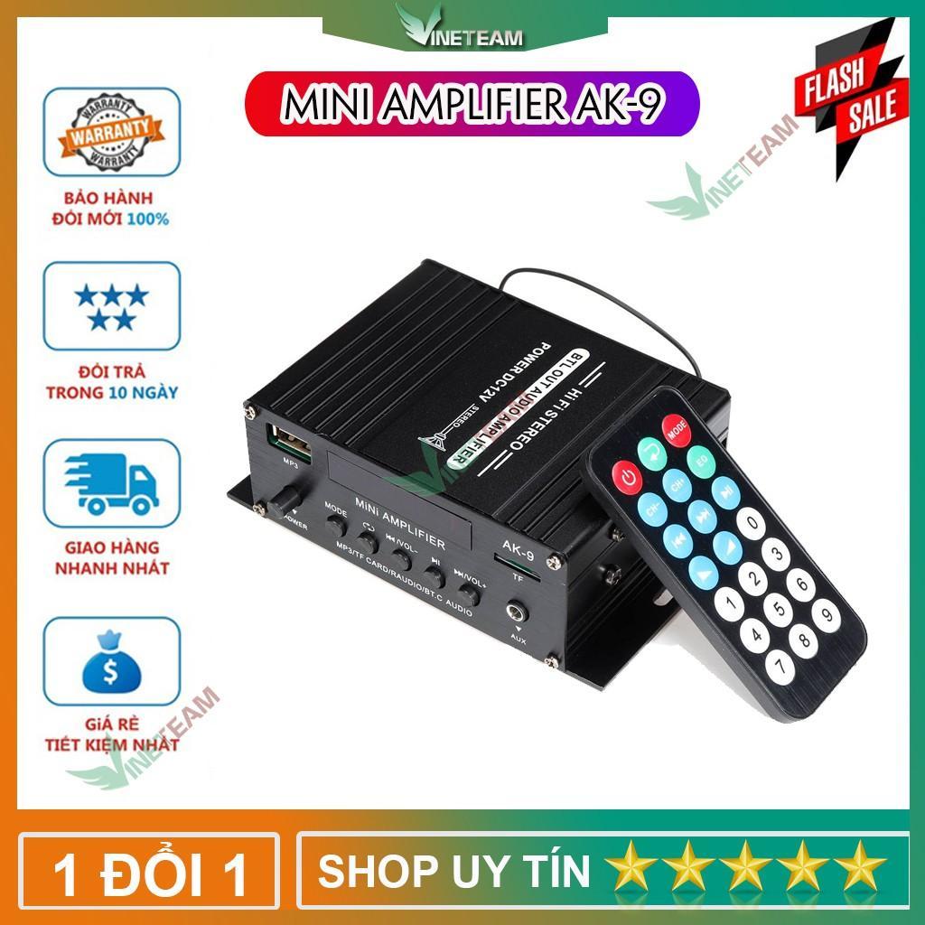 Bộ Khuếch Đại Âm Thanh Hifi Ampli Bluetooth Công Suất Lớn 40W AK-9 -DC4108