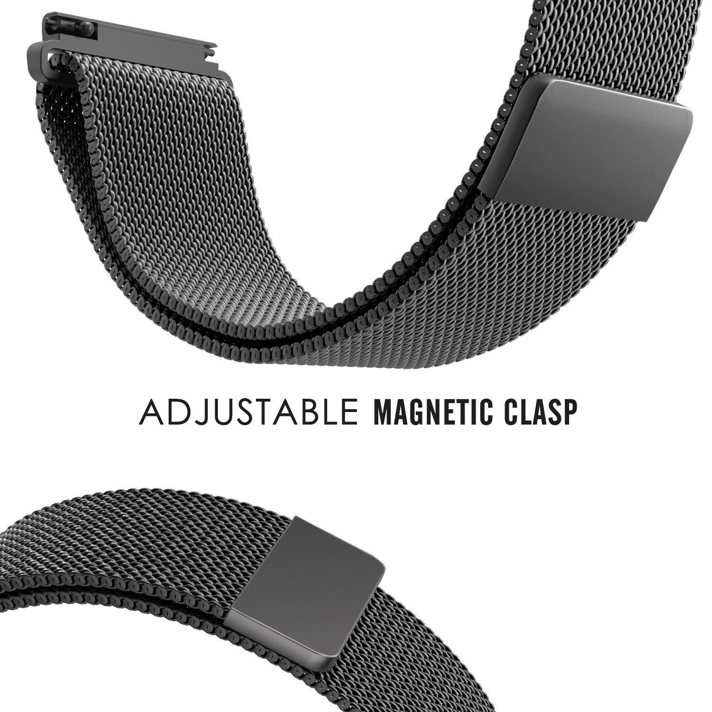 Dây đồng hồ 20mm lưới thép cho đồng hồ Samsung Galaxy Watch Active 2, Active, Galaxy Watch 42mm