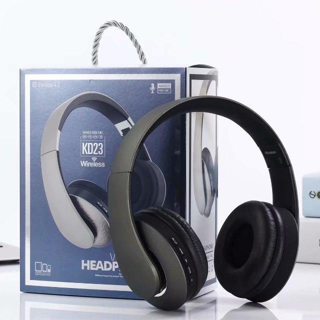 Tai nghe bluetooth 4.2,over-ear 2 in 1, wireless KD23 Hands Free Mic - Hàng chính hãng
