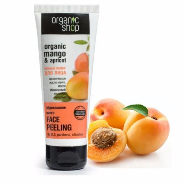 Kem tẩy da chết cho mặt chiết xuất Xoài và Mơ Organic Shop Mango & Apricot 75ml