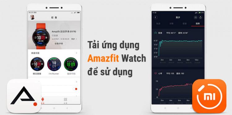 Smartwatch Xiaomi Amazfit Pace GPS Đen - Tải ứng dụng amazfit trên điện thoại