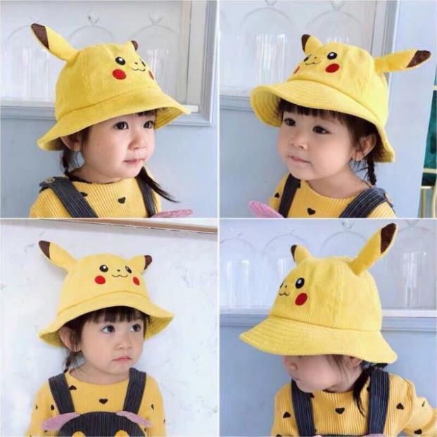 Mũ cho bé makuro picachu màu vàng