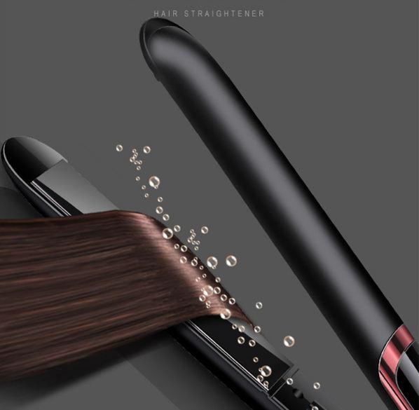 Máy ép duỗi tóc 2 trong 1 cao cấp kiểu Hàn Quốc NA-8868 Trắng Đen