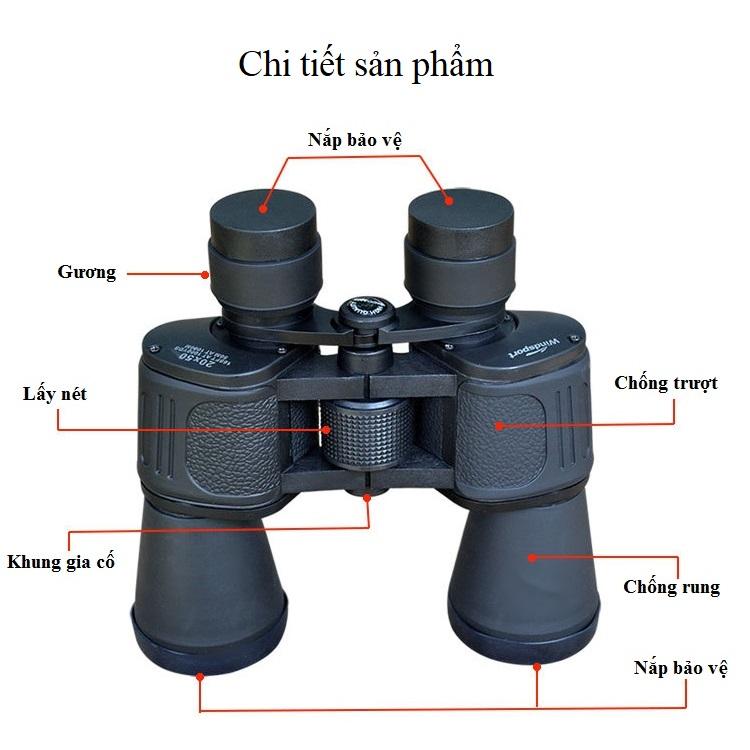 Ống Nhòm Hai Mắt Cao Cấp 10X50 ( Tặng kèm 01 Bộ 100 Miếng Dán Hình Ngôi Sao Dạ Quang Phát Sáng )
