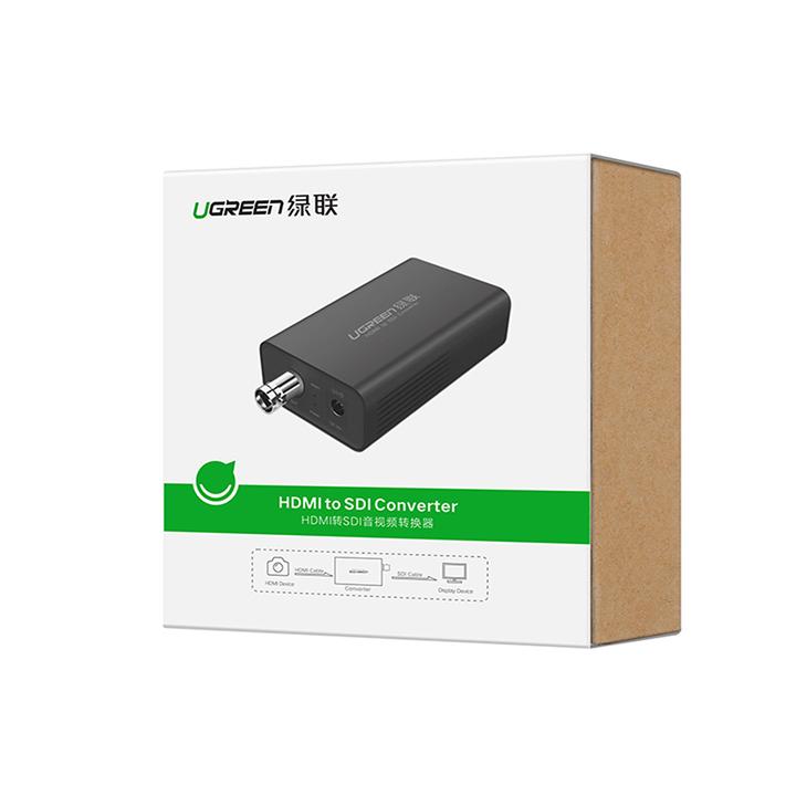 Bộ chuyển đổi HDMI to SDI cho máy tính, máy quay phim Ugreen 40966 -Hàng Chính hãng