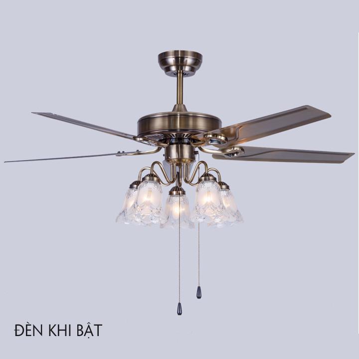 Quạt đèn trần phòng khách TOP191