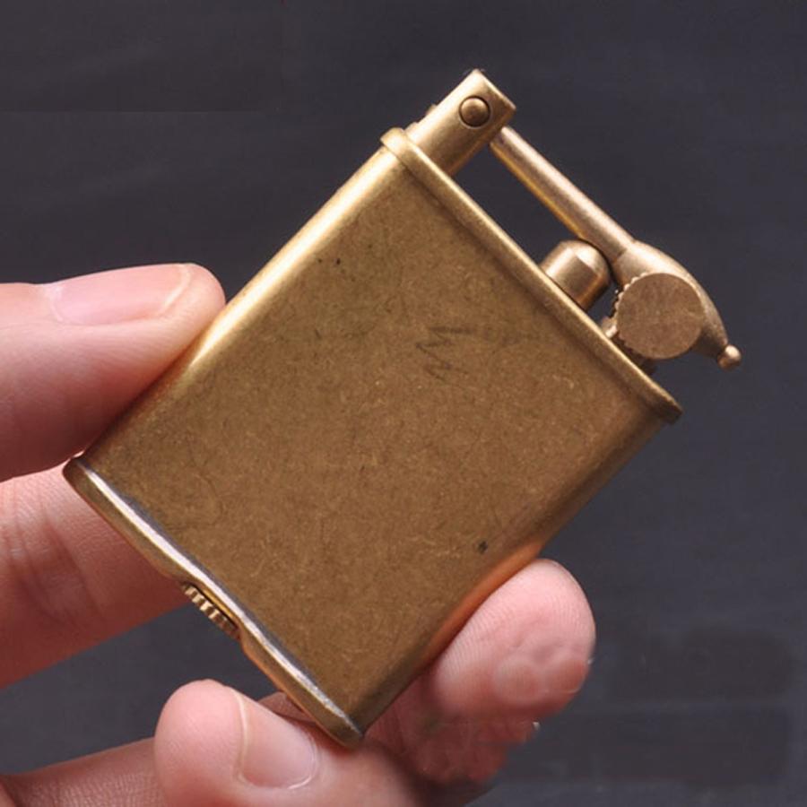 Hộp Quẹt Bật Lửa Xăng Đá Bằng Đồng Nguyên Chất Kiểu Cổ Z510 Cao Cấp Sang Trọng