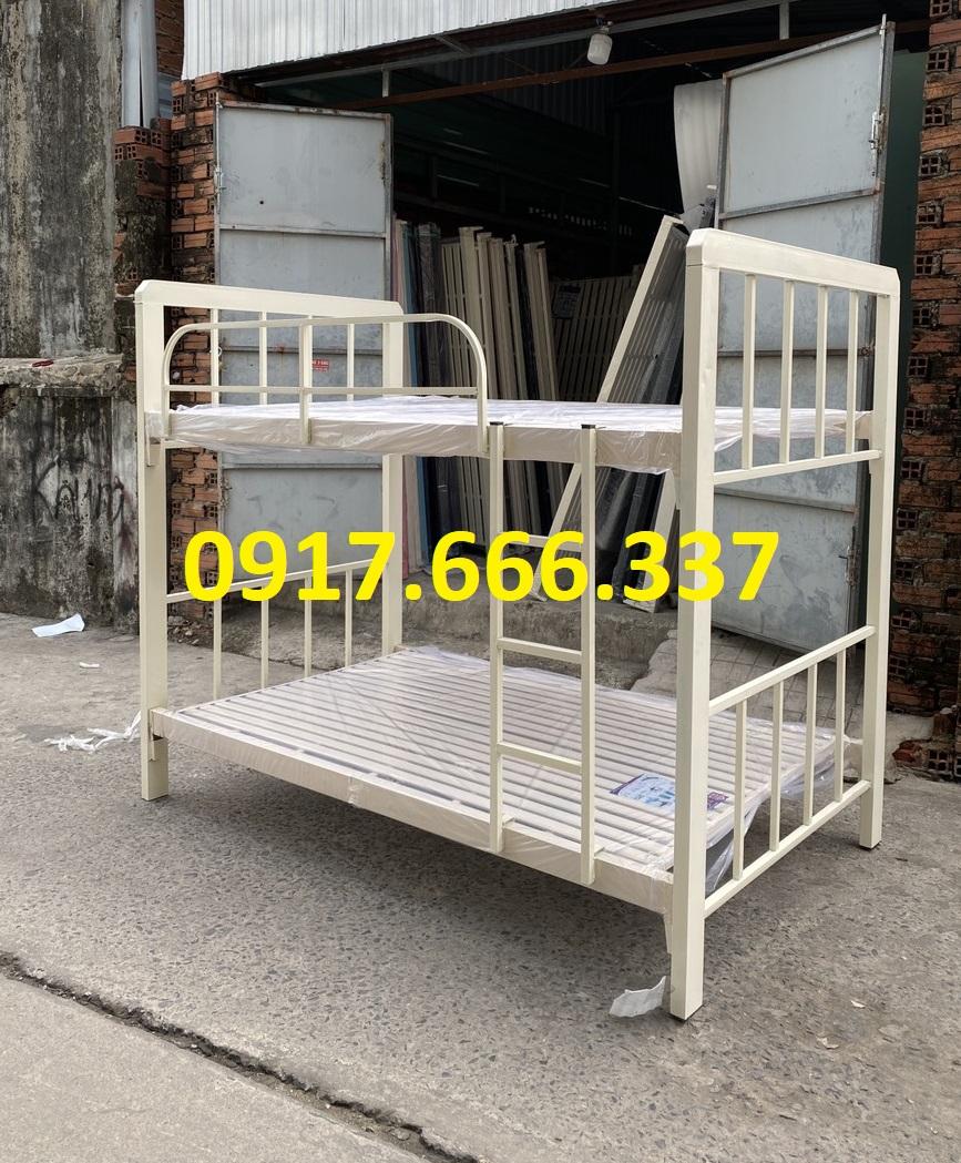 Giường sắt hộp tầng trên 1m2 tầng dưới 1m2 cao cấp