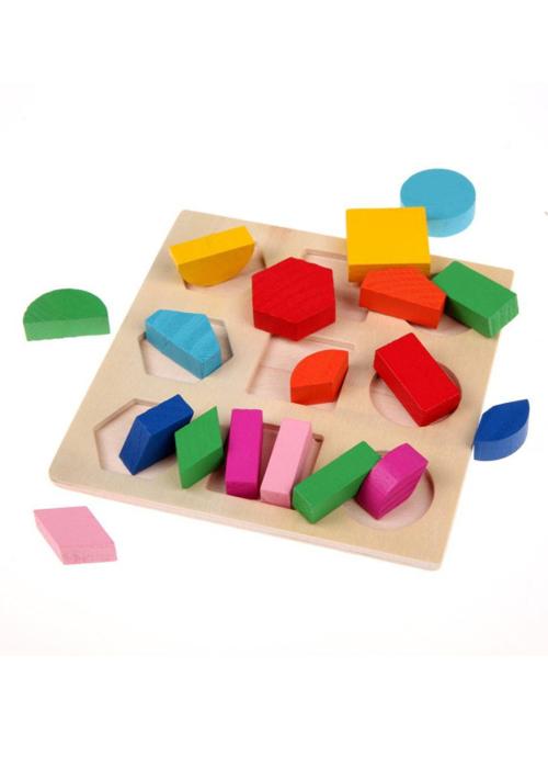Đồ chơi gỗ giáo cụ Montessori combo 3 bảng lắp ghép hình khôi cho bé