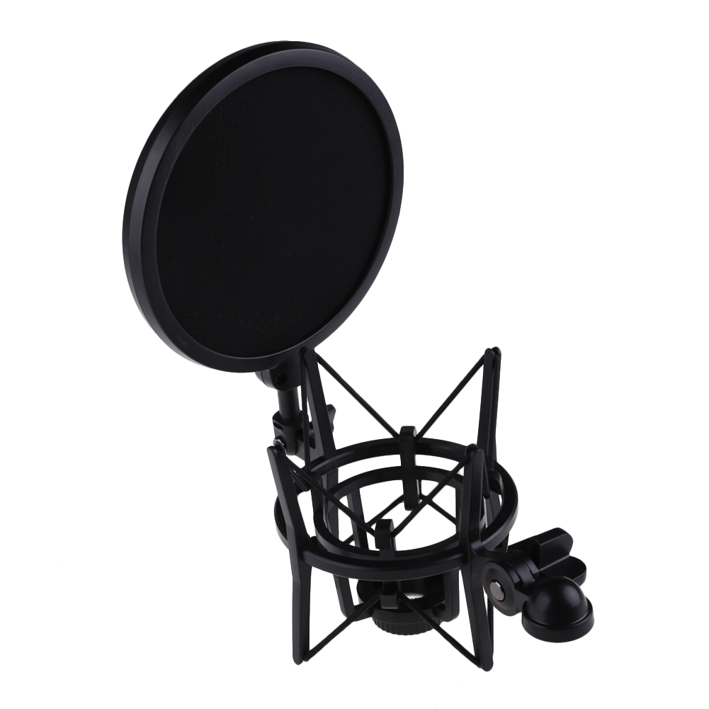 Bộ Shock Mount Kèm Màng Lọc Âm Cho Micro Hát Live Stream YL-101 AZONE