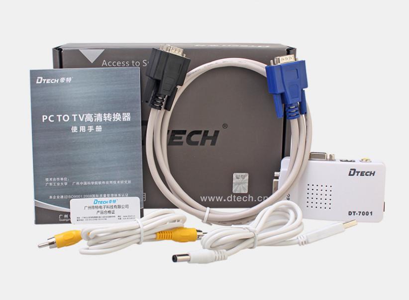Bộ chuyển tín hiệu VGA sang AV, Svideo DTECH DT-7001 chính hãng