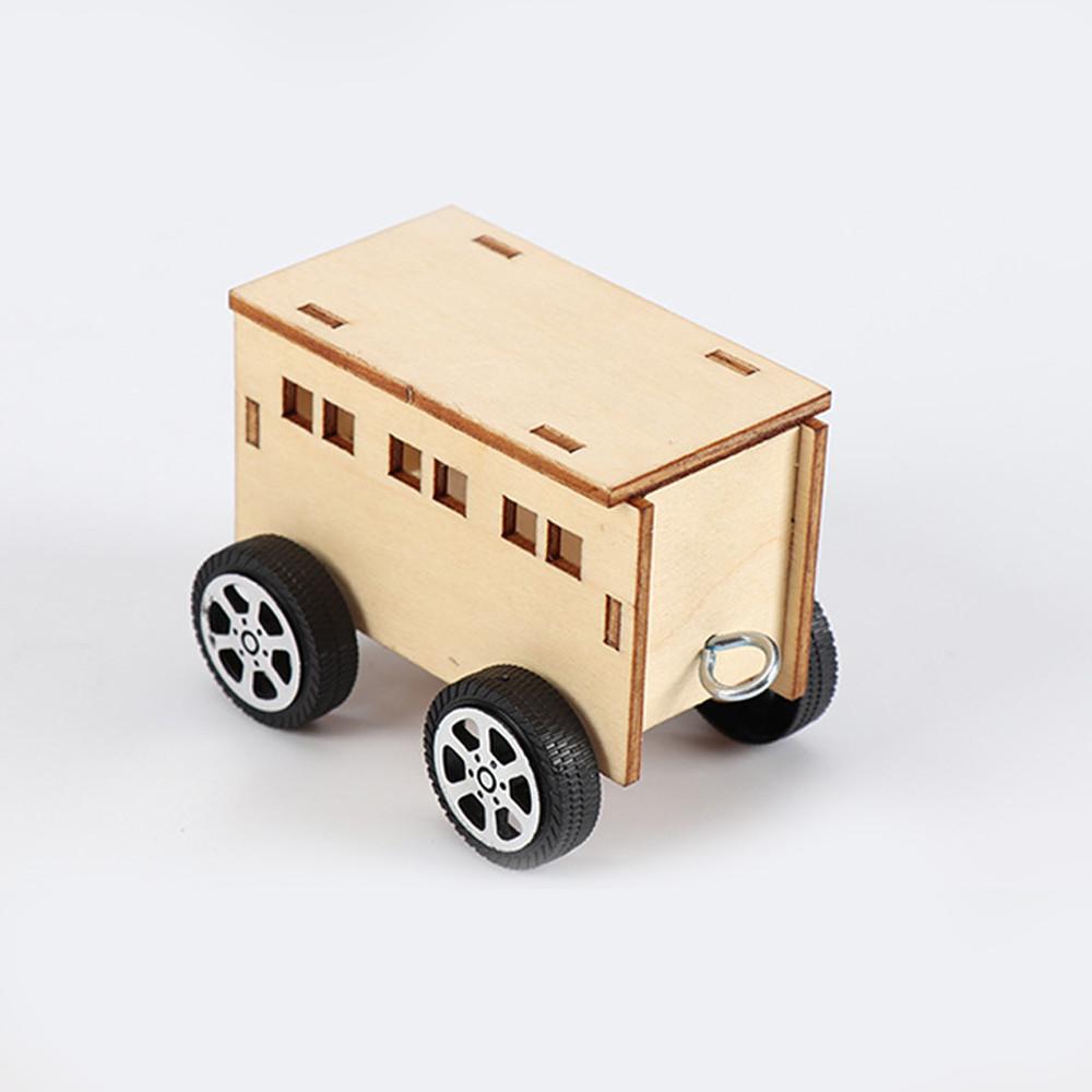 Bộ đồ chơi khoa học tự làm tàu hoả 3 toa bằng gỗ – DIY Wood Steam