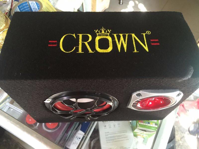 Loa vi tính nghe nhạc bằng USB , thẻ nhớ  Crown vuông số 5 (Tặng dây hoa sen) - Hàng nhập khẩu
