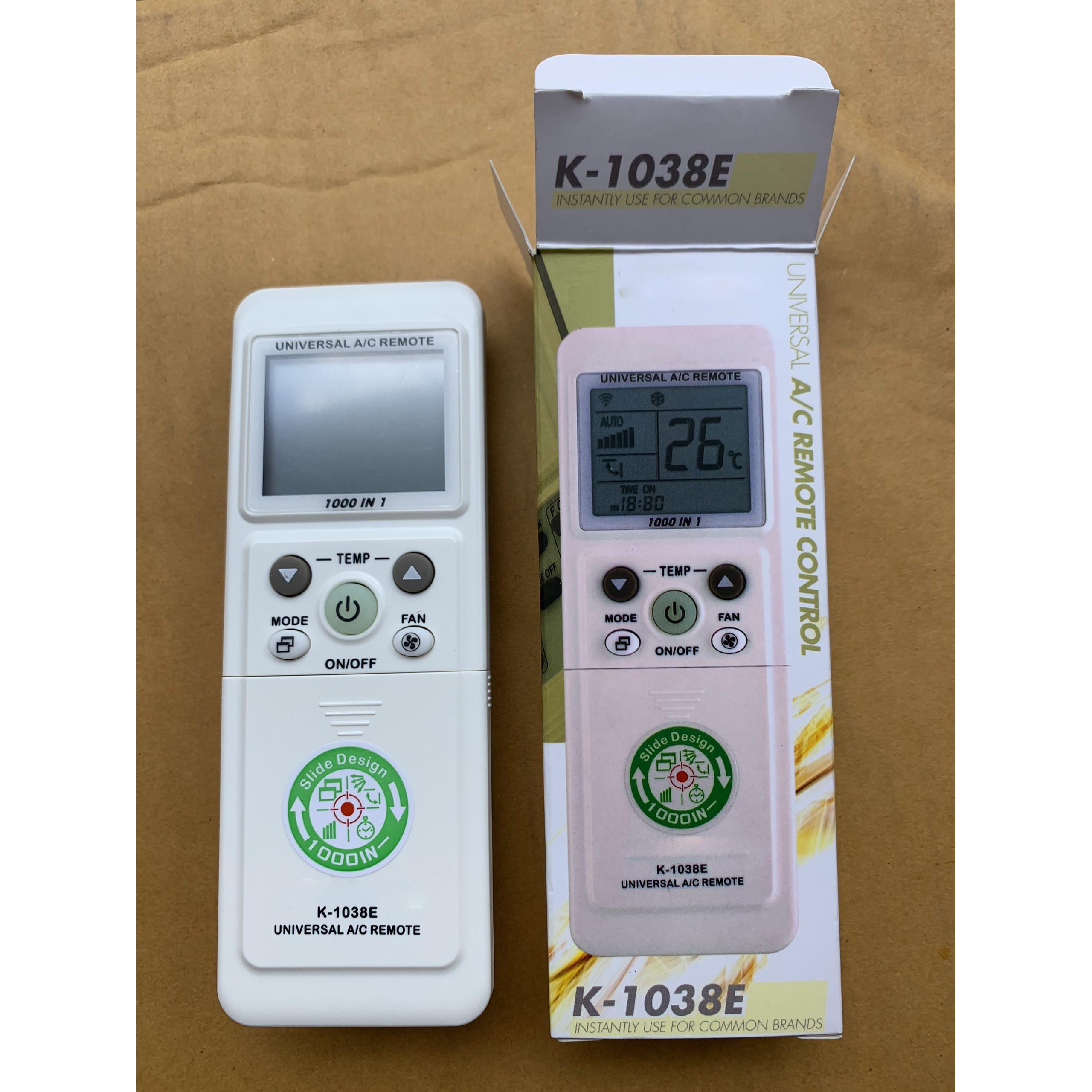 Remote đa năng điều khiển máy lạnh 1000 in 1 nắp trượt cao cấp