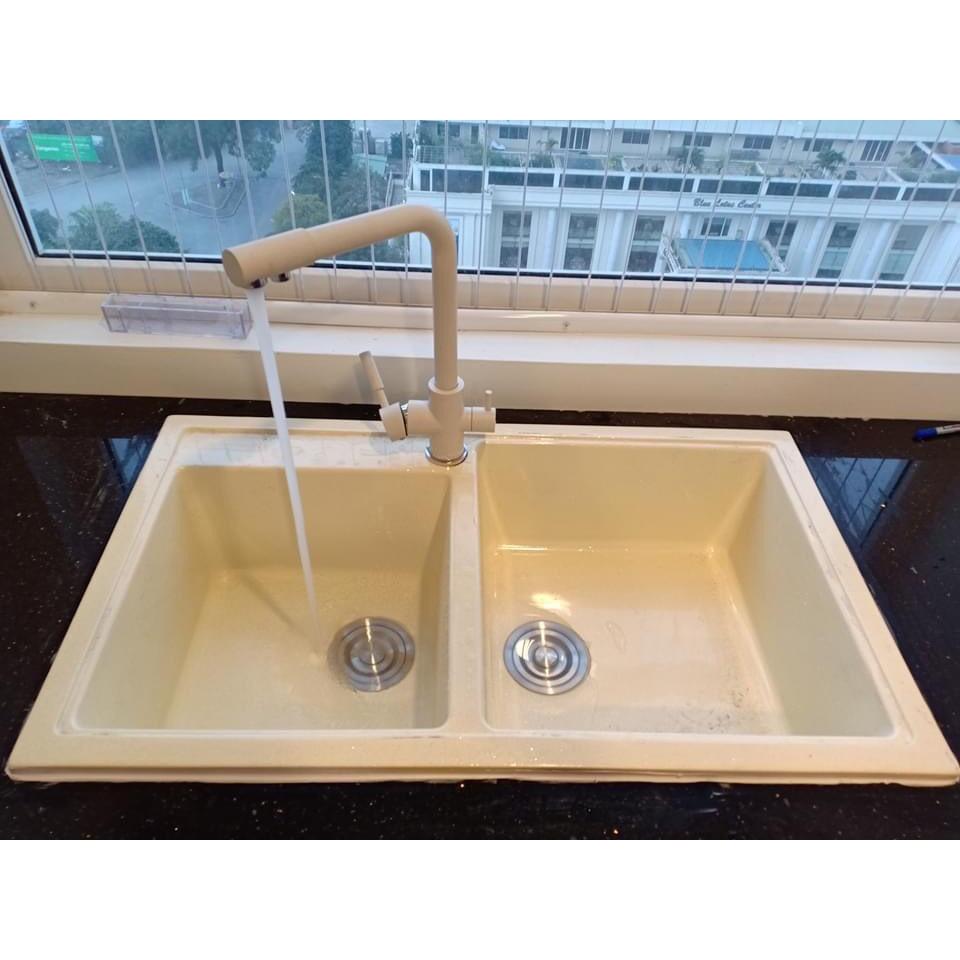 Vòi rửa bát đá trắng 3 chế độ rửa CHINOX