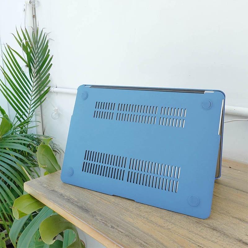 Ốp case nhựa cho Macbook màu xanh dương - Hàng chính hãng