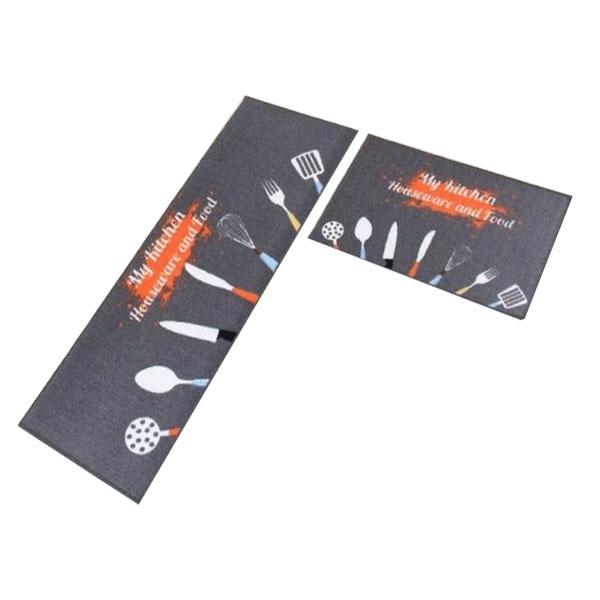 Combo 2 thảm 3D lau chân thấm nước tốt kích thước 40x120 cm và 40 x 60 cm