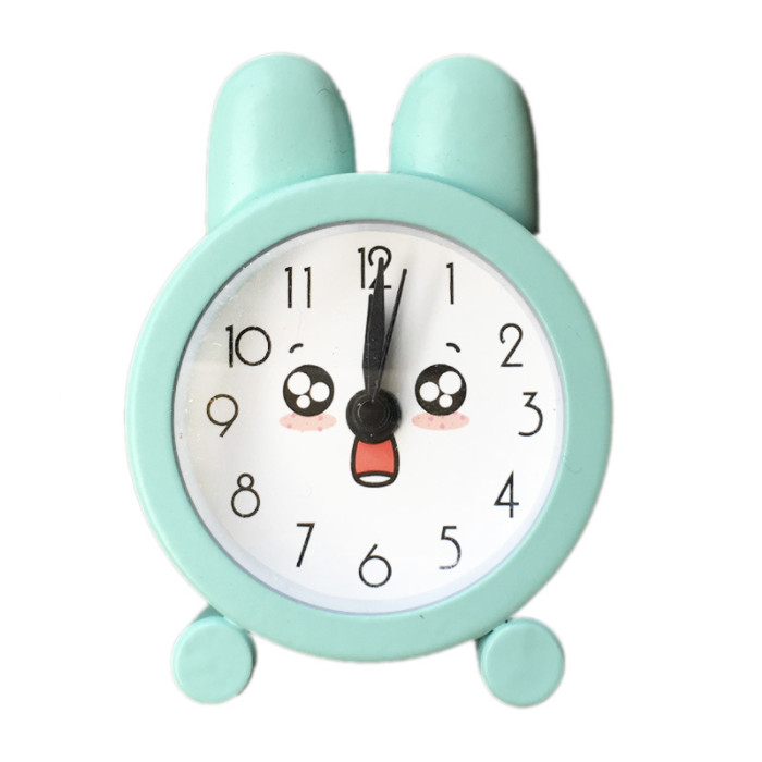 Đồng hồ báo thức để bàn mini tai thỏ cute