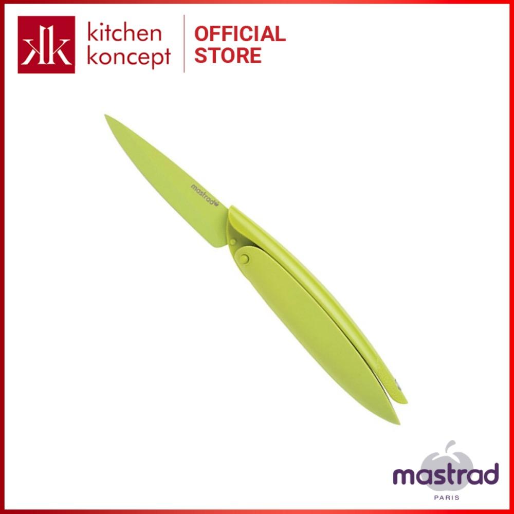 Mastrad - Dao gọt màu xanh - 7.6cm