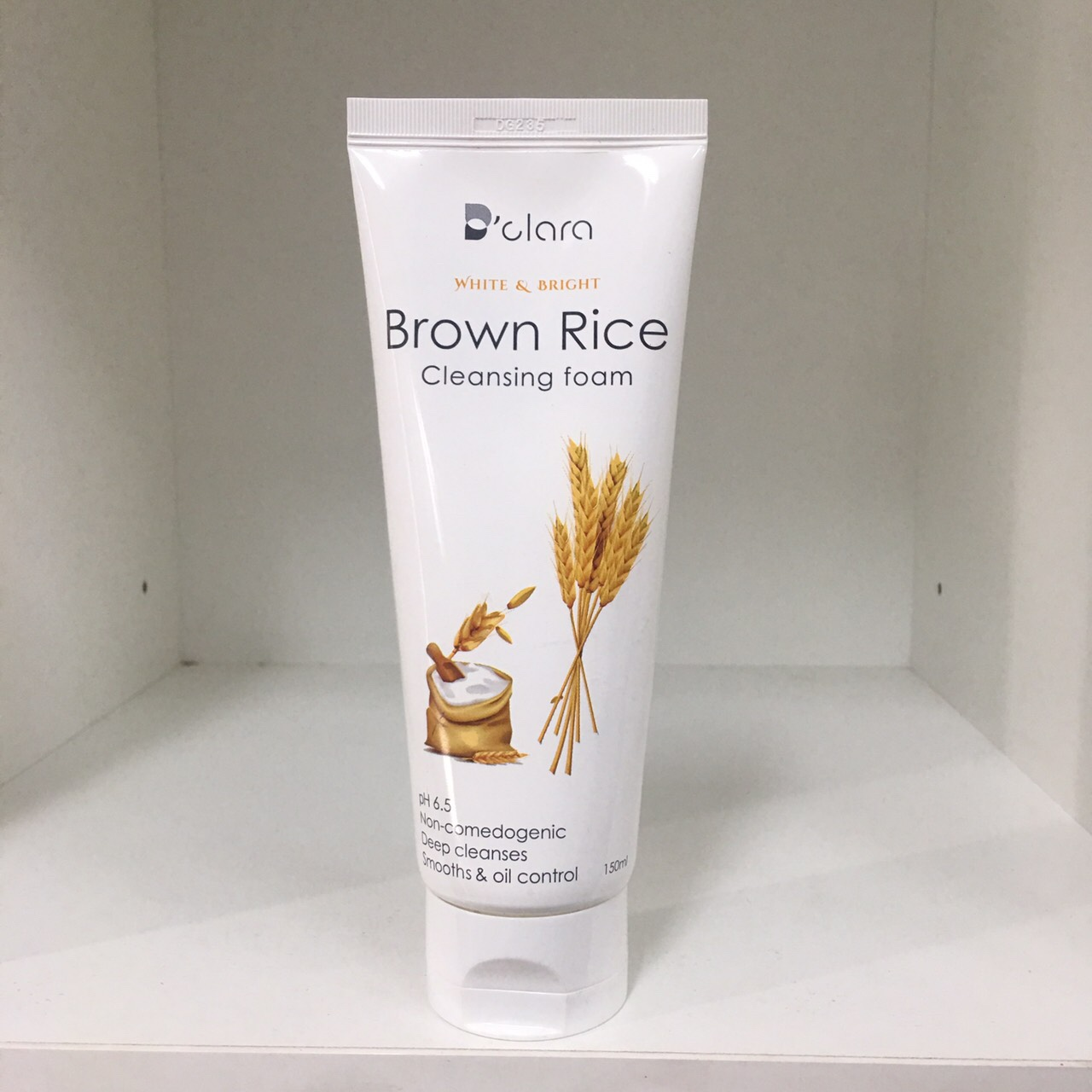 Brown rice cleansing foam