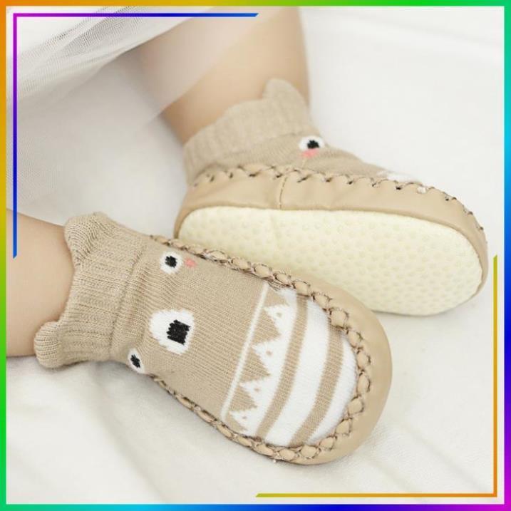 2 đôi tất tập đi cho bé  dép tập đi chống trơn trượt an toàn cho bé từ 0 đến 2 tuổi