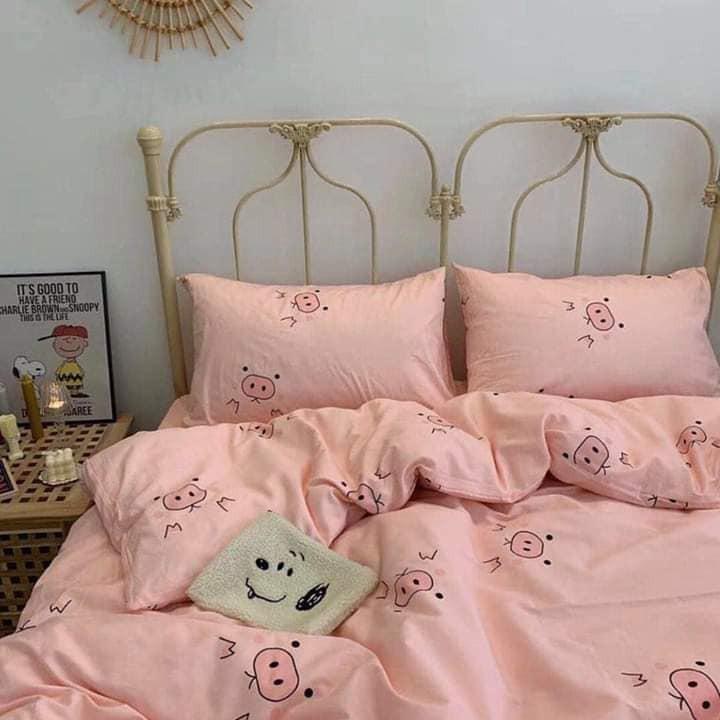 Bộ chăn ga 4 món cotton Poly cao cấp đủ size nhiều mẫu (không kèm ruột) PLA12