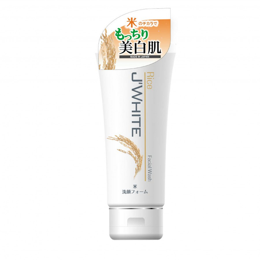 Sữa Rửa Mặt Trắng Sáng Da, Giảm Nhăn Tinh Chất Mầm Gạo Nhật Bản J'WHITE 160G