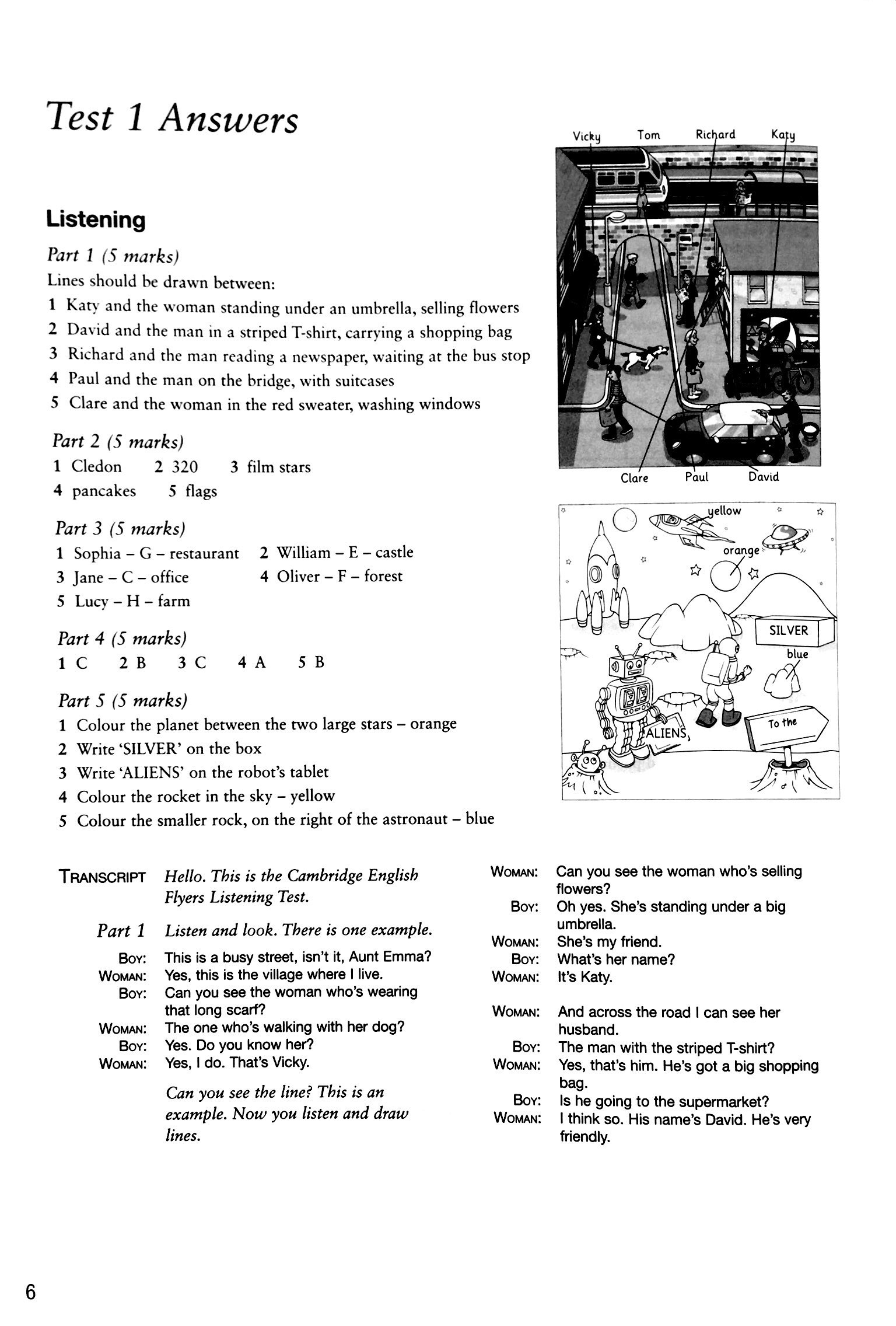 Cambridge English Flyers 1 for Revised Exam from 2018 Ans Booklet