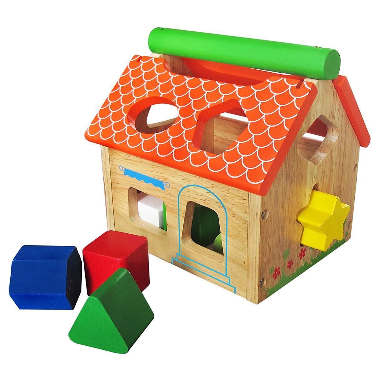 Nhà Thả 12 Khối  - Đồ chơi gỗ