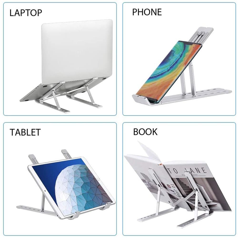Giá đỡ Aluminum hợp kim nhôm cho Macbook laptop 10 inch đên 15.6 inch hiệu HOTCASE giúp tản nhiệt thiết kế nhôm nguyên khối - Hàng nhập khẩu