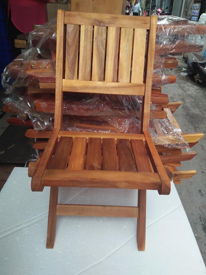 Ghế gỗ xếp mini Cafe