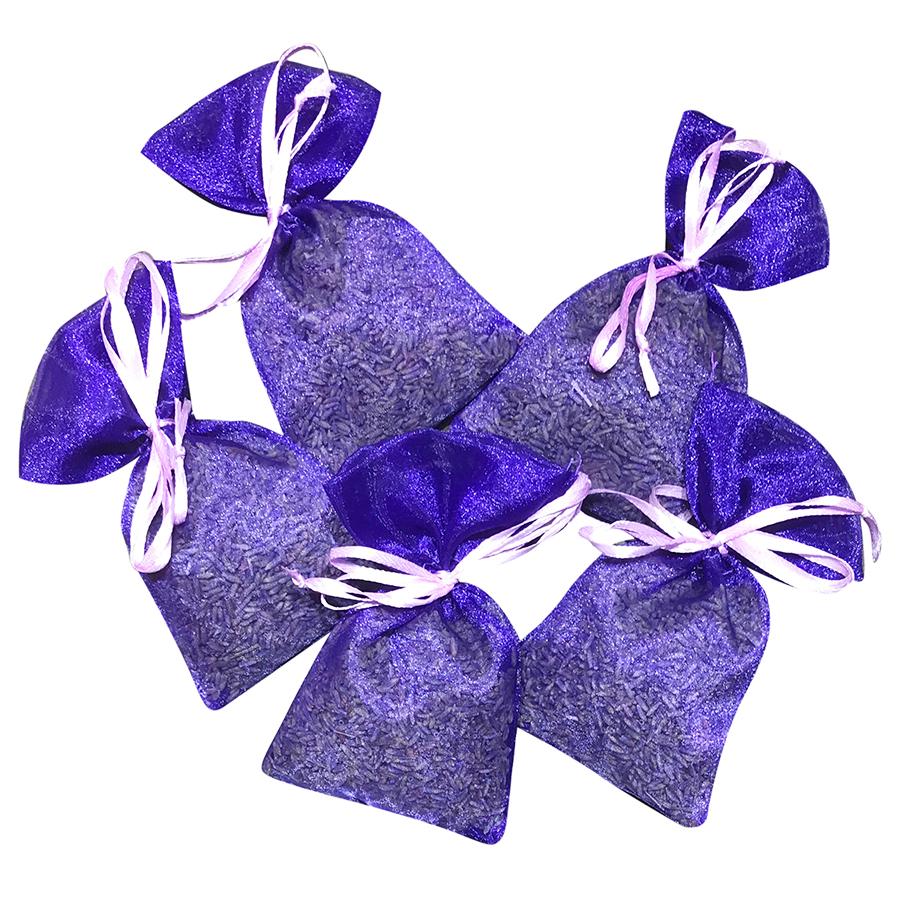 Set 5 túi thơm nụ hoa lavender khô Pháp
