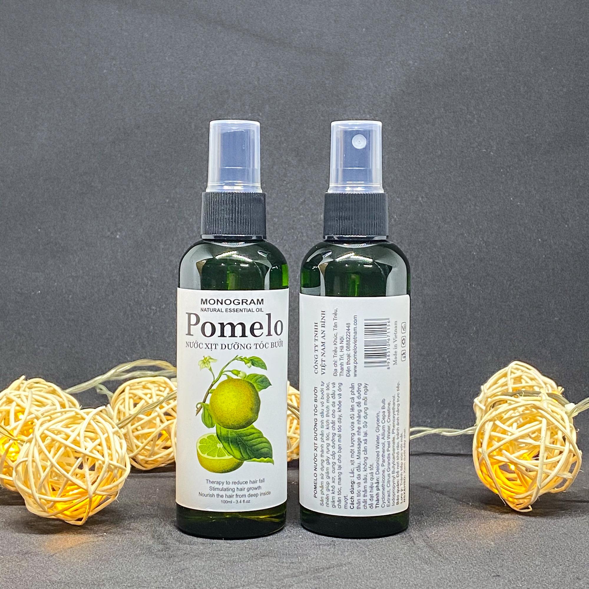 Nước xịt dưỡng tóc bưởi POMELO gúp giảm rụng, phục hồi hư tổn 100ml