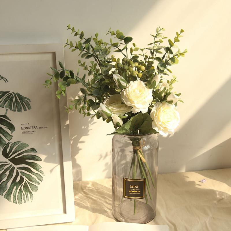 Bình bông lọ hoa thủy tinh ống để bàn cao cấp hình trụ cắm hoa trang trí phòng khách nhà cửa nhiều mẫu