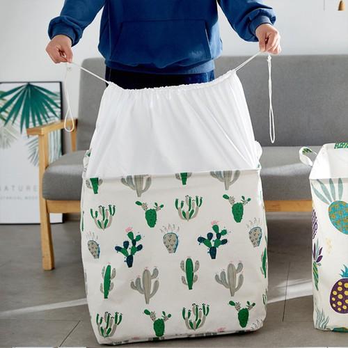 Túi vải đựng chăn màn quần áo cỡ lớn 100L họa tiết giao ngẫu nhiên