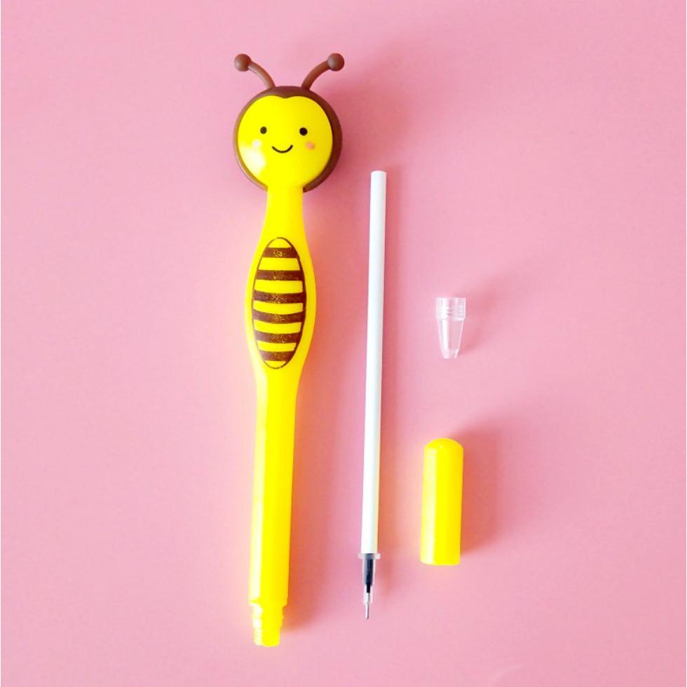 Bút Bi Viết Ong Vàng Siêu Dễ Thương - Bút Bi Nước Văn Phòng Mực Đen