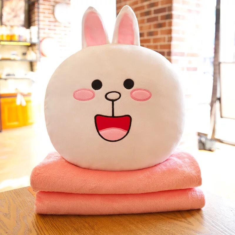 Bộ chăn gối văn phòng gấu brown thỏ cony cao cấp 2in1