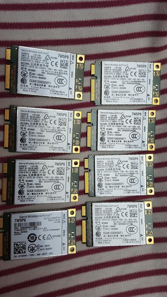 Card wwan 3G Dell Wireless DW5570 - MC8805 dùng cho laptop E7240, E7440, M4800, M6800,E6540, E5440