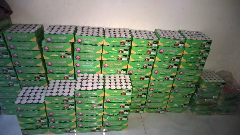 hộp 100 nến tealight trang trí không khói, không mùi - hàng Việt Nam