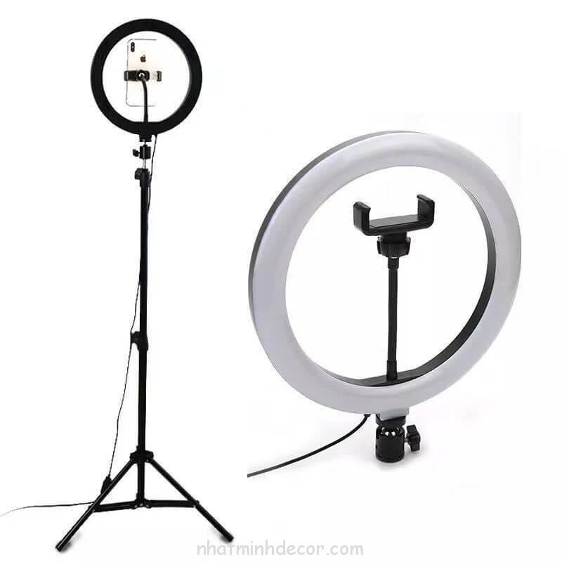 Bộ Đèn LED trợ sáng 26cm tích hợp 3 nguồn ánh sáng trắng/vàng/trung tính hỗ trợ livestream, selfie, quay Tiktok (tặng kèm đầu đọc thẻ nhớ cao cấp)