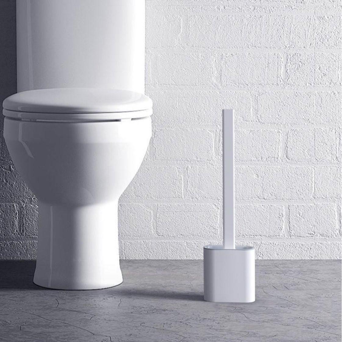 Cọ Vệ Sinh Toilet Bồn Cầu Bằng Silicon Tiện Lợi( giao mầu ngẫu nhiên )
