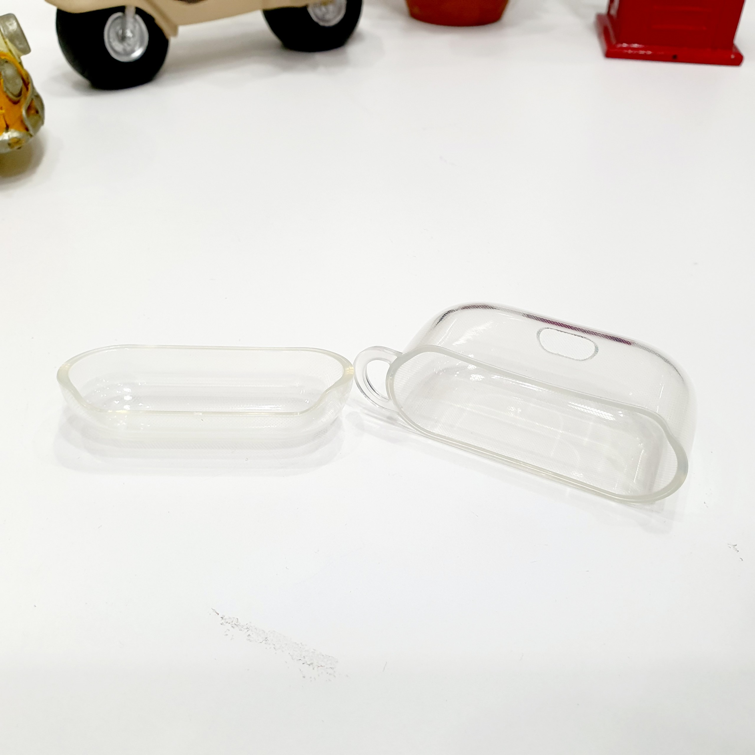 Case Ốp Silicon Bảo Vệ Cho Apple AirPods Pro Trong Suốt