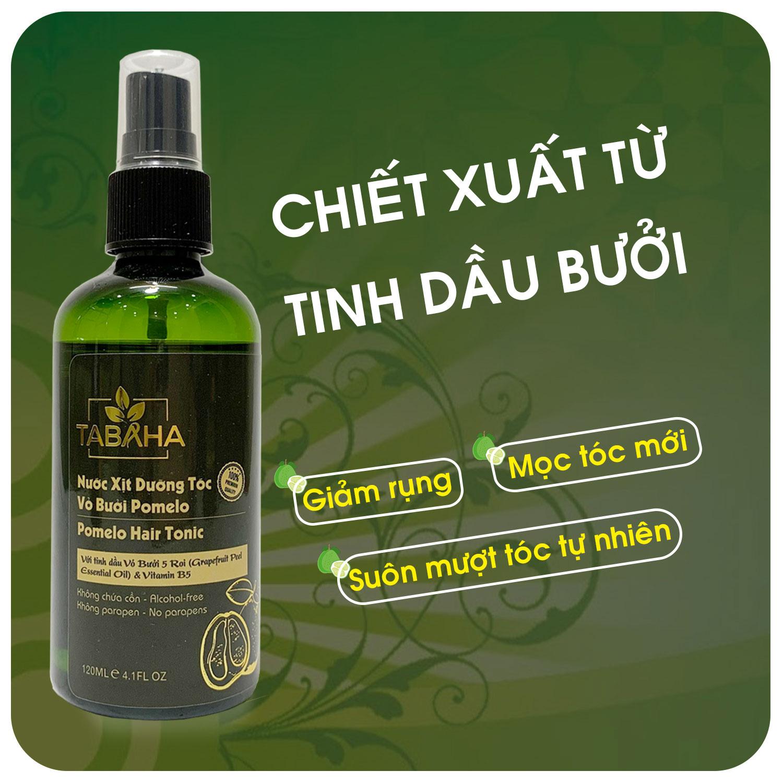 Tinh dầu bưởi dưỡng tóc Pomelo Tabaha 120ml giúp giảm rụng tóc cho mẹ sau sinh